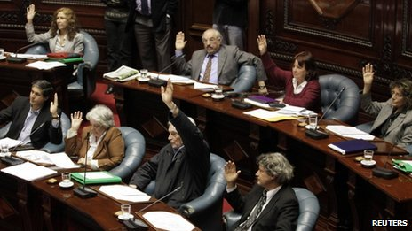 Uruguayan senators vote on abortion proposal