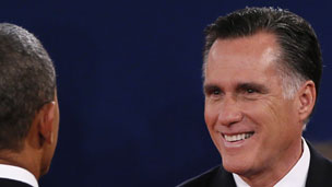 Romney smiling