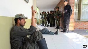 A rebel of the Revolutionary Armed Forces of Colombia, or Farc