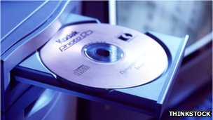 stock image of a cd-rom