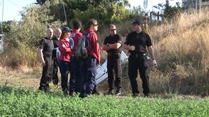 Police at the site