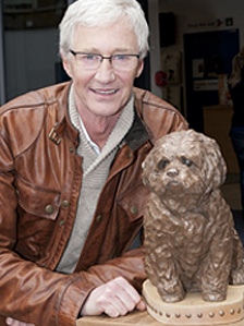 Paul O&#039;Grady and Buster statue