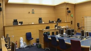 Inside a Scottish High Court
