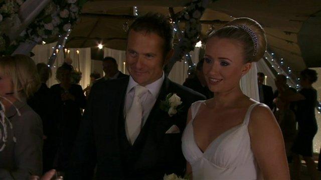 A wedding scene from Emmerdale