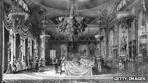 Banqueting hall at Royal Pavilion at Brighton