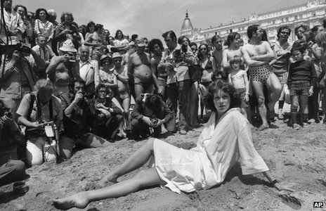Sylvia Kristel at the Cannes Film Festival