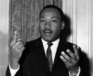 American civil rights campaigner Martin Luther King in 1963