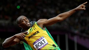 Role model? Usain Bolt poses at the London 2012 Olympic Games