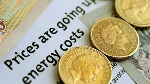 Energy headline and coins