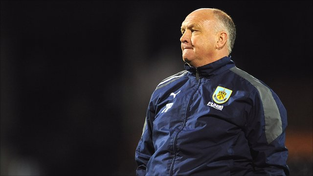 Burnley caretaker manager Terry Pashley