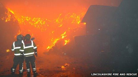Caythorpe fire