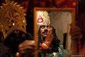 An artist prepares for Dussehra festival