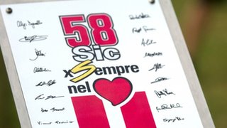 Plaque in Marco Simoncelli's name