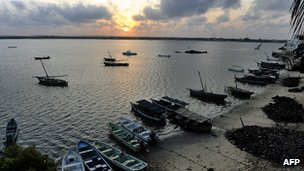 A fishing village on Kenya's coast near Lamu