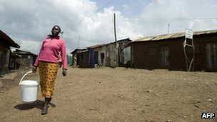 Woman in Kibera slum in Nairobi