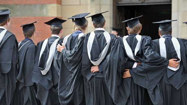 Graduates on Graduation Day at the University of Birmingham