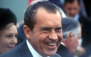 Former US President Richard Milhous Nixon