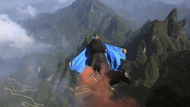 Man in wingsuit