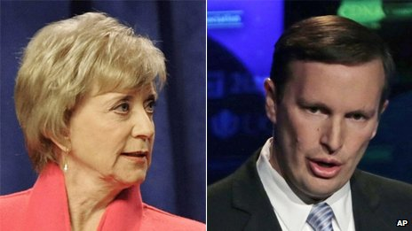 Linda McMahon and Chris Murphy