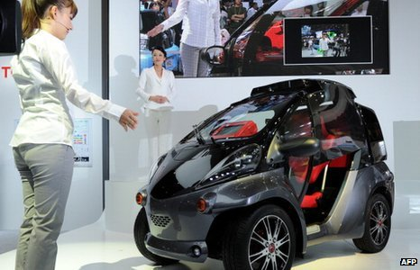 Japan's auto giant Toyota Motor unveils their concept vehicle 'Smart Insect'