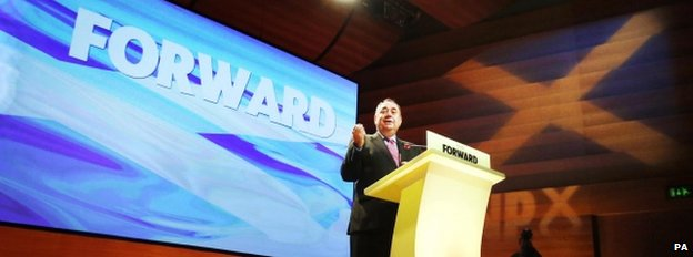 Alex Salmond at his party's conference