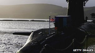 Faslane submarine