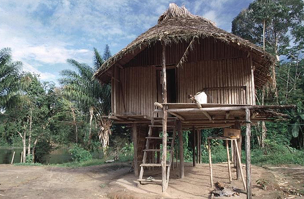 Amerindian village in Suriname
