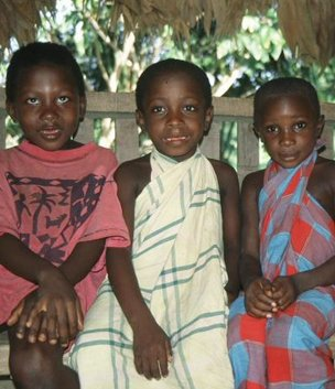 Maroon children in Suriname
