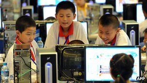 Chinese children use the internet