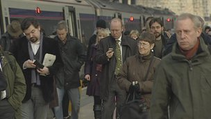 generic image of commuters