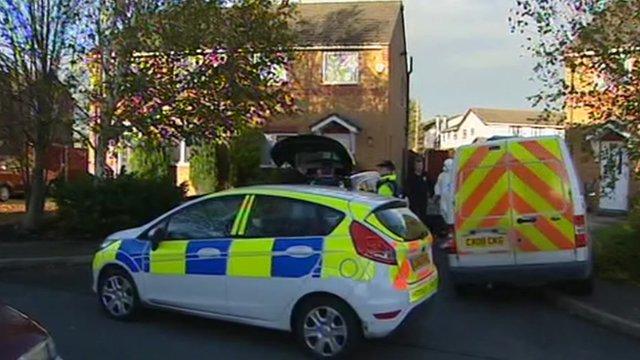Police outside house
