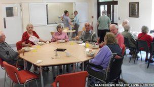 Dining room at Blackdown Healthy Living Centre