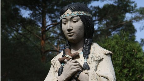 Statue of Kateri Tekakwitha at the shrine to her in Fonda, New York