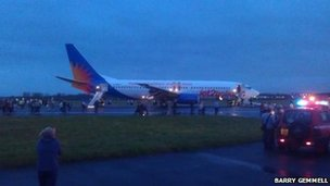 Evacuated Jet2 aircraft