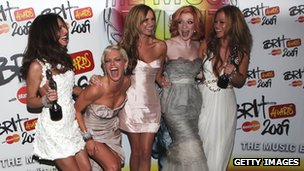Girls Aloud win a Brit Award in 2009