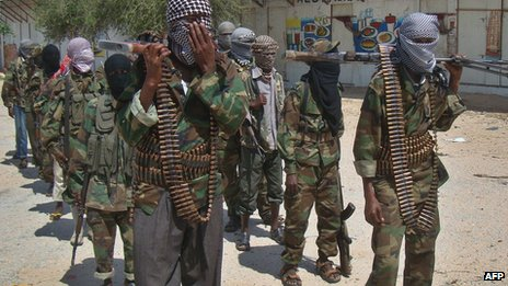 Al-Shabab recruits pictured in March 2012