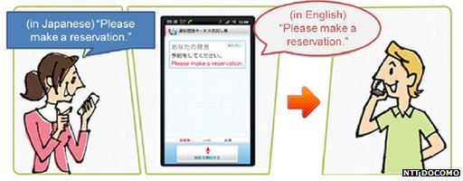 NTT Docomo's app offers both voice and text translations of phone
