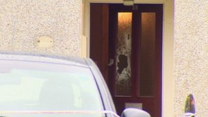 scene of attack in Coleraine