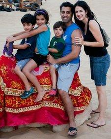 Rajiv Khatri and family