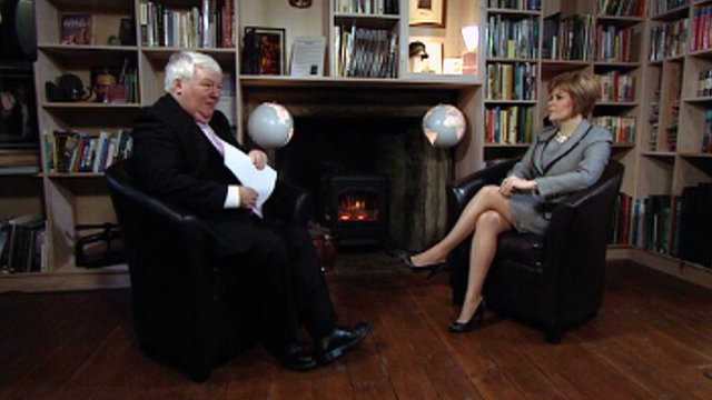 BBC Scotland's political editor Brian Taylor and Deputy First Minister Nicola Sturgeon