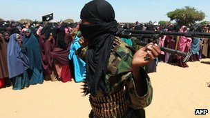 Al-Shabab fighter in Elasha Biyaha, February 2012