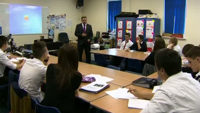 Sixth formers were back in lessons in one of the school's newer buildings