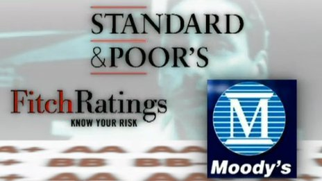 Composite picture of rating agency logos 