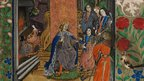 Henry VII receiving the manuscript