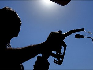 Man with petrol pump