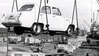 Car being exported to Australia 1955