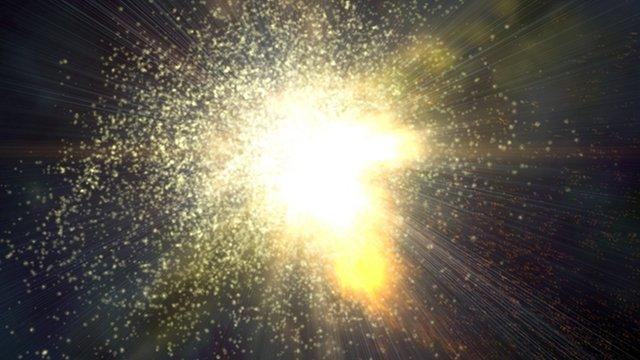 Stellar explosion artwork