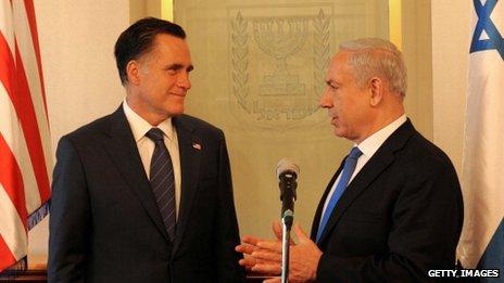 Mitt Romney and Benjamin Netanyahu