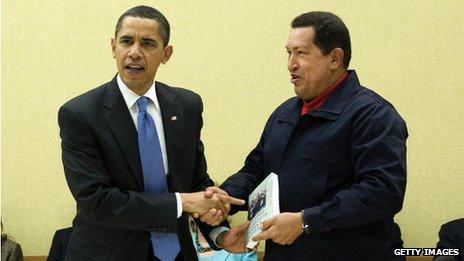Obama and Chavez