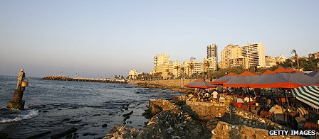View of the corniche (seafront) in Beirut, Lebanon